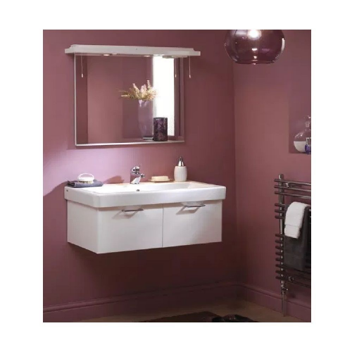 Eastbrook Sorrento Wall Hung Vanity Unit - 960mm Wide - High Gloss White